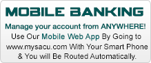 Mobile Banking from anywhere with our mobile web app